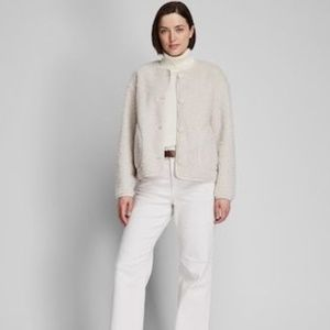 Uniqlo Pile Lined Fleece Crew Neck Cardigan Coat